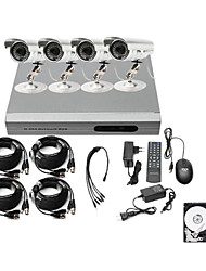 Ultra Low Price 4CH CCTV DVR Kit (H.2644 Outdoor Waterproof Color Cameras)1TB Hard Drive