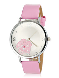 Women's Flower Pattern Round Dial PU Band Quartz Wrist Watch (Assorted Colors) Cool Watches Unique Watches