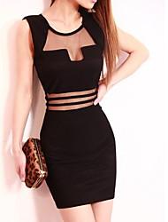 Noir Net sexy des femmes voient à travers la robe
