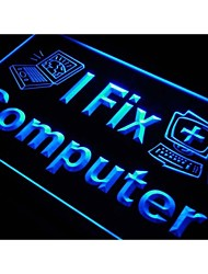 j975 I Fix Computer Laptop Desktop Repairs Neon Light Sign