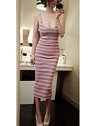 Stripe taille des femmes cultivent sa robe de moralité