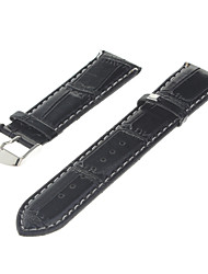 Pelle Nera Uomo 20 millimetri Watch Band