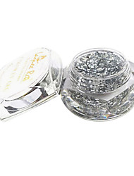 Prata diamante Glitter Nail Art UV Builder Gel Soak-off (15ml)