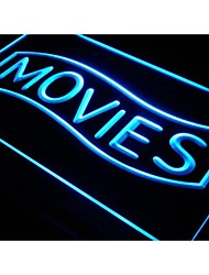 Movies Home Theater Night Lure Neon Light Sign