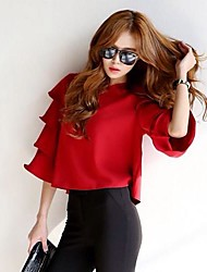 Women's Layered Sleeve Loose Short Blouse