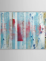 Hand Painted Oil Painting Abstract Stripe with Stretched Frame