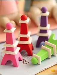 Eiffel Tower Shaped Removable Eraser(Random Color)
