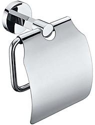 Современной хромированной отделкой Твердый латунный настенное крепление Серебряные Держатели туалетной бумаги