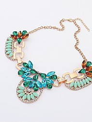 Women's Europe Unique Elegant Diamond Metal Necklace