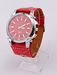 Womage Big classica Dial Watch (Red)