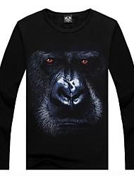 m-império (tm) esporte dos homens em torno do pescoço longo da luva com 3d impresso t-shirt engraçado