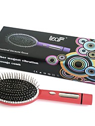 Loof Electric Vibrating Massage Hair Brush Comb for Blood Circulation Red (1 x AA)