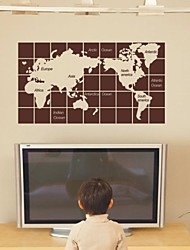 Still Life Cube Mapa del mundo pegatinas de pared