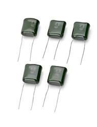 DIY 334 0.33UF 250V Polyester Film Capacitor - Green (5 PCS)