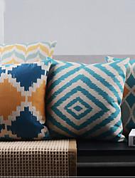 conjunto de 4 minimalismo pós-moderno capas de almofadas decorativas geométricas regulares