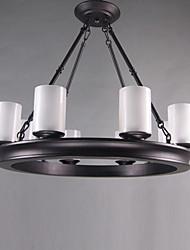 Современная Соответствует традиционный 8-Light нефти потер бронзовый канделябр