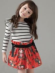 Girl's Dress Cotton / Mesh Summer