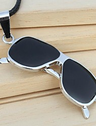 Fashion Glasses (Irregular) Black Alloy Pendant Necklace(Black) (1 Pc)
