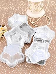 Tinfoil Five Star Egg Tart Mould Set of 125 Piece,7.5*7.5*2.8cm
