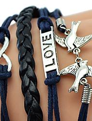 (1 Pc) Aves Amor aipi Sheng quatro ações do novo tecido pulseira Vento Multi-National Europeus E Americanos