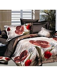 Dismier 3D Aloe Vera Cotton 4Pcs Bedding Set Serie 41