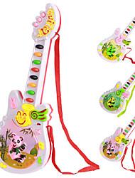 Desenhos animados elétrica guiter Brinquedos Educativos Música com colhedor (cor aleatória)