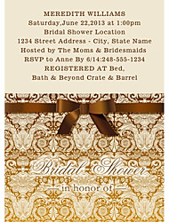 Personalized European Style Bridal Shower Cards - Set of 12