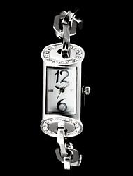 Colonne Forme rectangle de femmes cadran en acier de quartz de bande de montre de luxe (couleurs assorties)