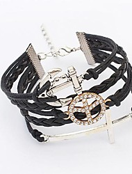 Women's Europe And The United States Anchor Cross Woven Bracelet