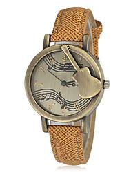 Mujeres Guitar Music Design dial redondo pu banda de cuarzo del reloj de manera analógica (color surtidos)
