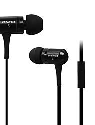 Fashion awei 100M 3.5mm Plug In-ear aluminium legering Super Bass Microfoon koptelefoon-Samsung (Vijf kleuren)