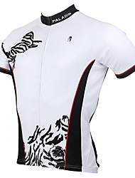 PALADIN Cycling Tops / Jerseys Men's Bike Breathable / Ultraviolet Resistant / Quick Dry Short Sleeve 100% Polyester Patchwork WhiteS / M