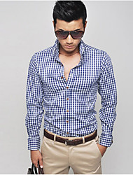 Plaid Shirt Moda Uomo