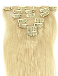 20 Inch 7Pcs 70g Clip in  Human Human Hair Extensions Straight Multiple Colors Available