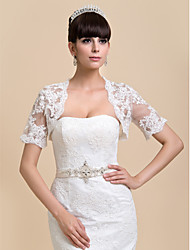 Wedding / Party/Evening / Casual Lace Coats/Jackets Half-Sleeve Wedding  Wraps