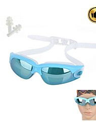 Stylish PC Lens Swimming Goggle Glasses w/ Carrying Box (Give ear plugs)
