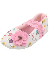 Cloth Girls' Flat Heel First Walkers Comfort Flats with Flower Shoes