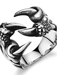 Муж. Классические кольца Pоскошные ювелирные изделия бижутерия Нержавеющая сталь Циркон Искусственный бриллиант Крестообразной формы В