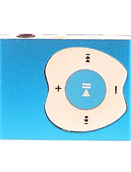 A Apple Design Botão Clipe MP3 Player com leitor de cartão TF (azul)