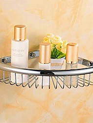 Contemporary   Brass Material  Wall Mounted  Shower Baskets