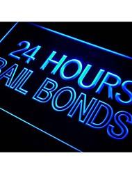 Obbligazioni i461 Bail 24 ore di luce al neon segno
