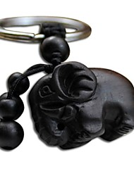 Duo Ji Mi ®  Elephant Ebony Car Keys Pendant