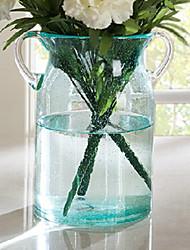 """9.6 """"H Double poignée vase en verre"""