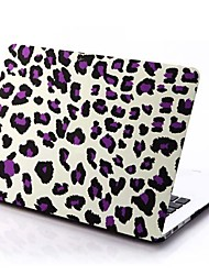 Purple Leopard Patterns Folio Plastic Protective Hard Shell Case for Macbook Pro 15""