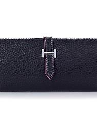 L&L Belt Decoration Fashion Wallet (Black)