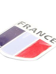 5 * 5 см Франция флаг шаблон Французский Эмблема Алюминиевый мотоциклов DIY стикера этикеты
