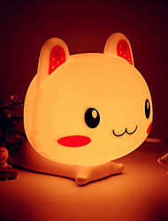 Night Light LED de forme de lapin ABS (couleurs assorties)