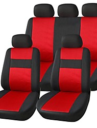 9 PCS Set Car Seat Covers Fabric Fish Net Stitching Seat Cover Universal Fit   Auto Accessories