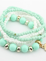 Pengchen Sweet Fashion Fresh Bracelet (Light Green)