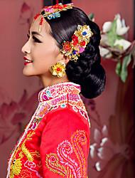 elegante chinesische Goldkopfschmuck für Hochzeiten